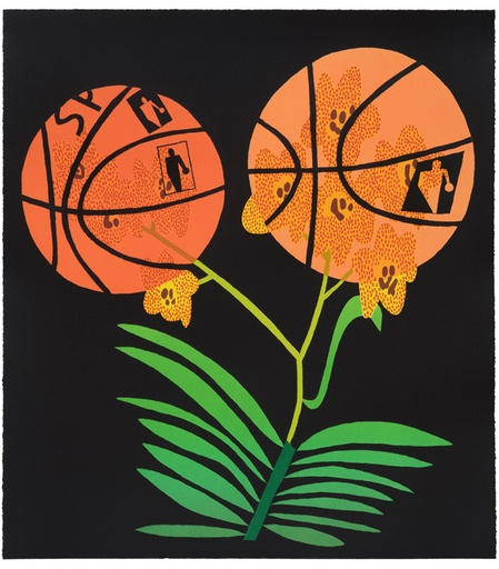 Double Basketball Orchid State II By Jonas Wood