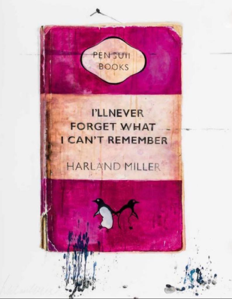 I'll never forget what I cant remember (Pink) Harland miller