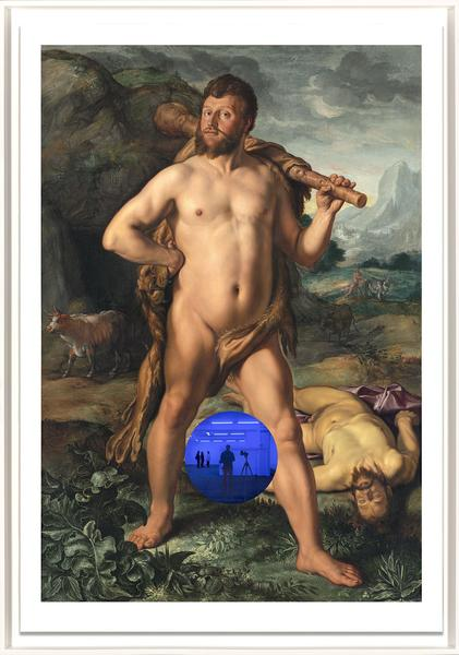 Gazing Ball (Goltzius Hercules and Cacus) by Jeff Koons