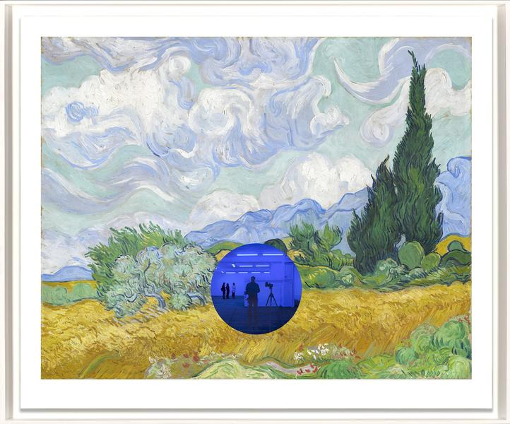Gazing Ball (van Gogh Wheatfield with Cypresses) by Jeff Koons