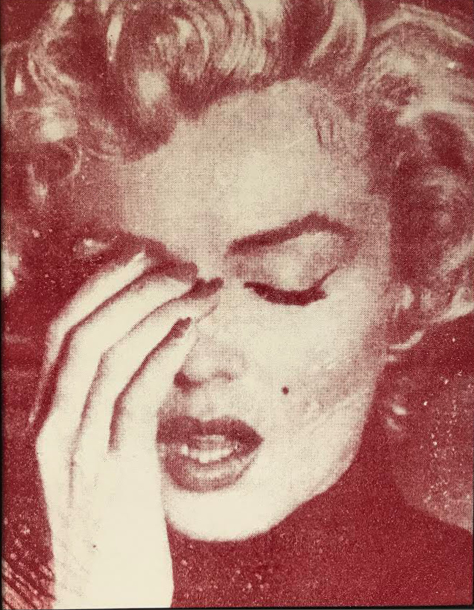 Marilyn Crying Red by Russell Young