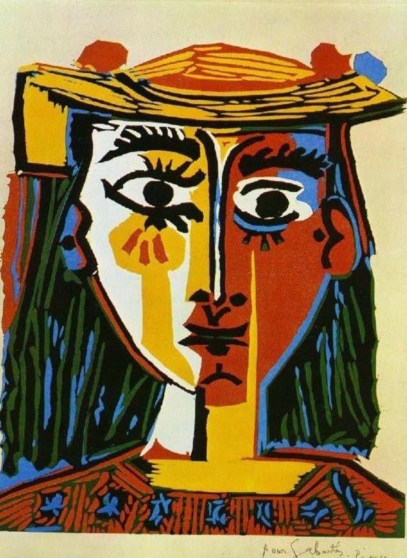 buste de femme au chapeau