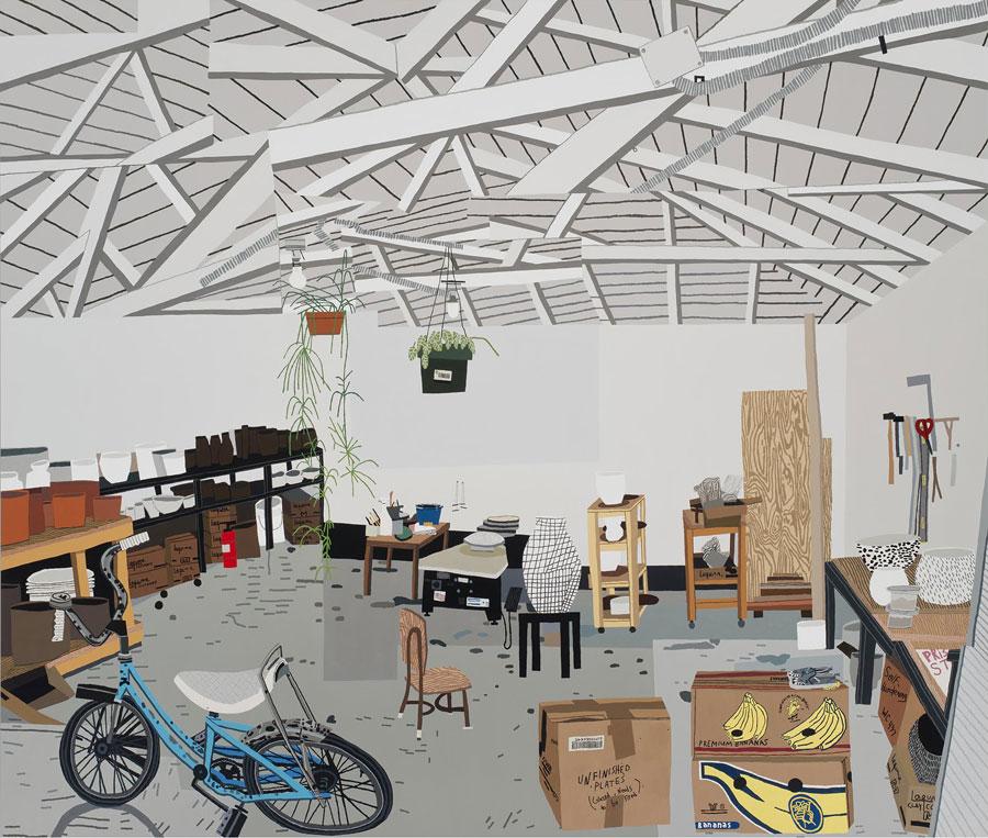 Shio's Studio on Palms By Jonas Wood