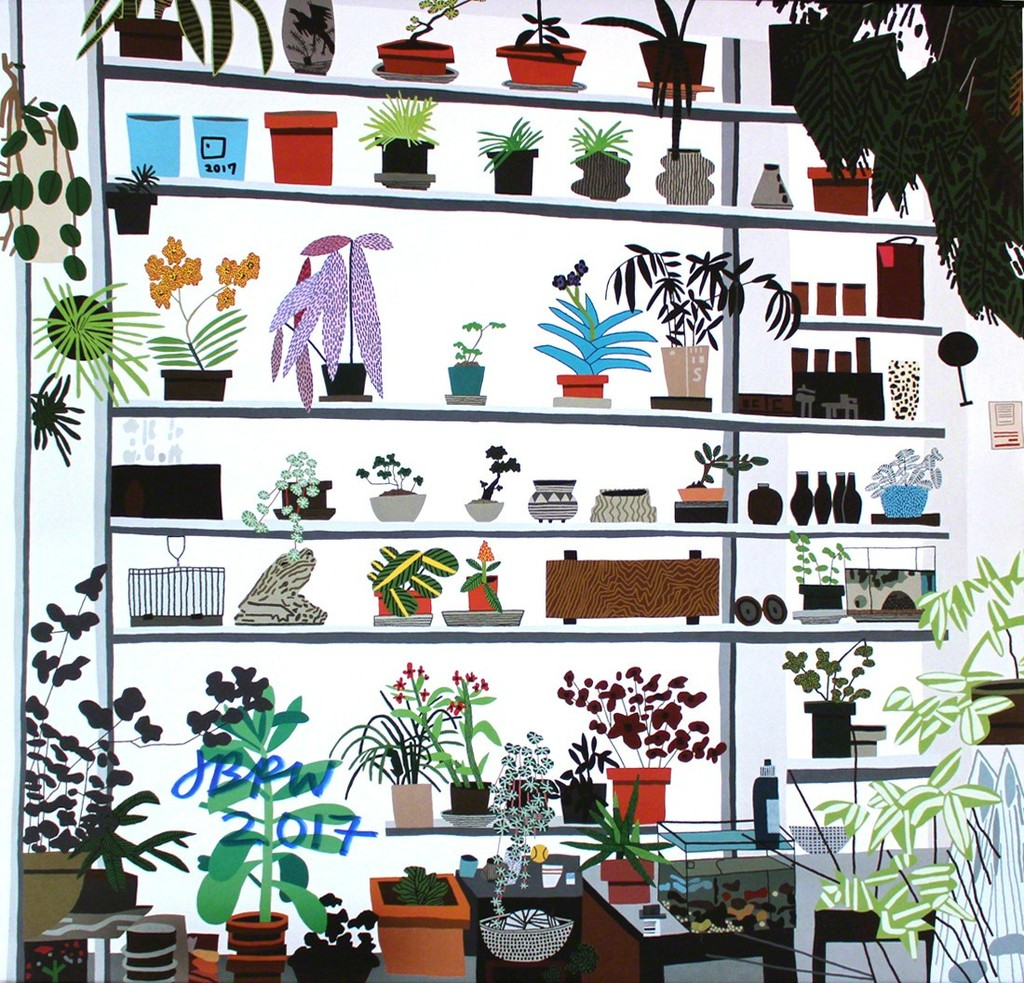 Large Shelf Still Life By Jonas Wood