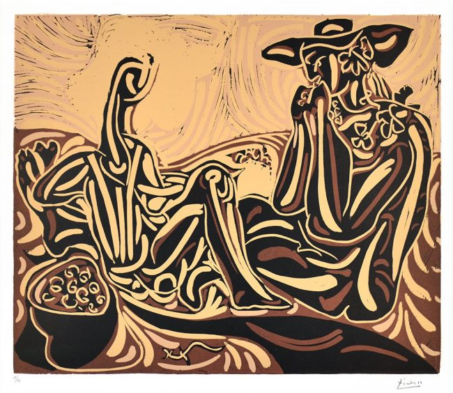 pablo-picasso-linocut-les-vendangeurs-the-grape-harvesters-1959-for-sale