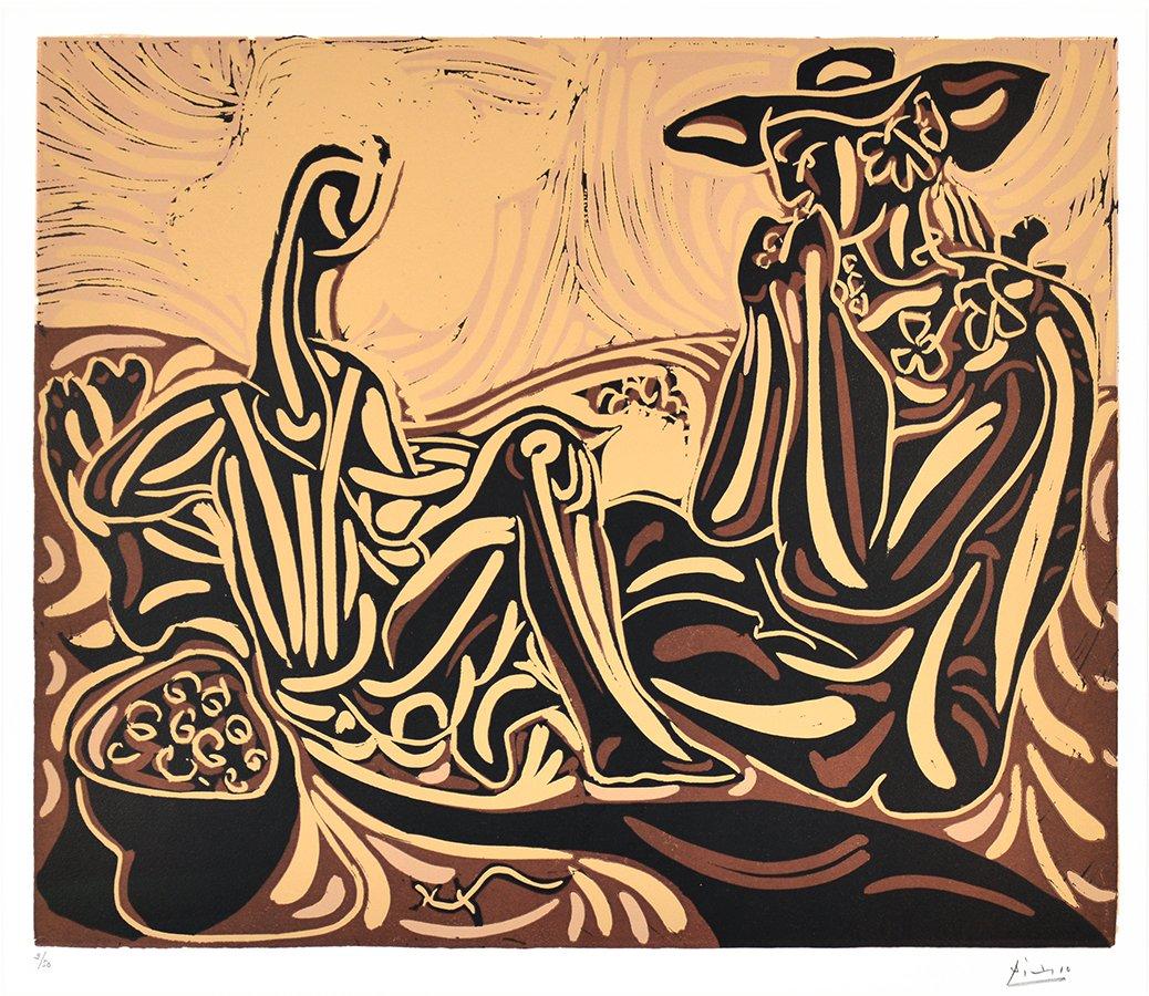 pablo-picasso-linocut-les-vendangeurs-the-grape-harvesters-1959-for-sale