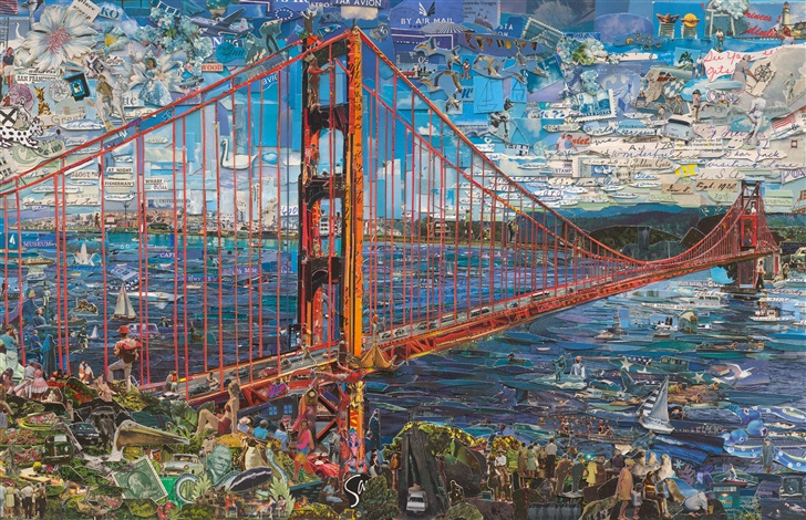 Golden Gate Bridge by Vik Muniz