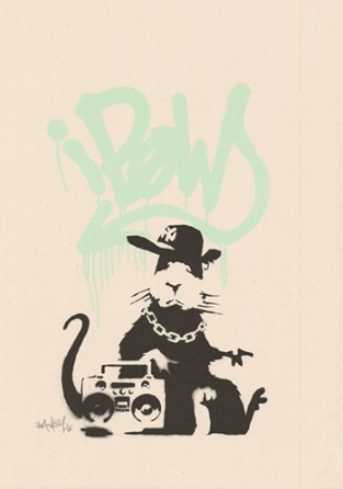 Banksy Gangsta Rat Mint