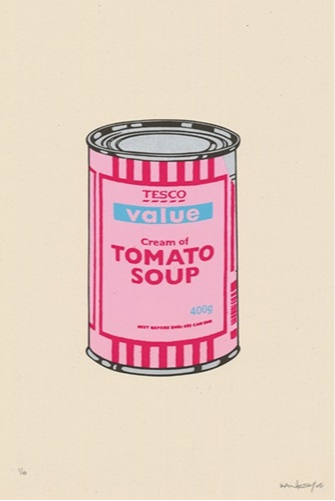 Banksy Soup Can Pink