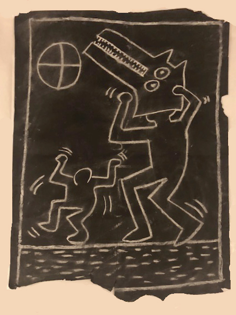 Untitled 1 (Subway Drawing) By Keith Haring