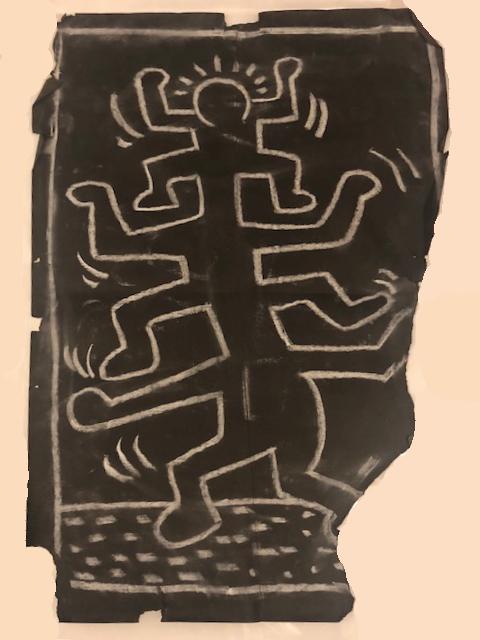 Untitled 3 (Subway Drawing) By Keith Haring