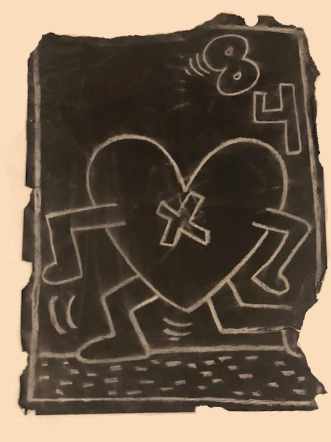 Subway Drawing #8 by Keith Haring
