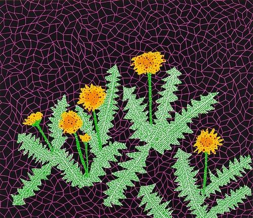 dandelions by yayoi kusama