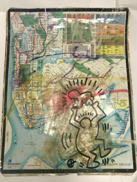 Untitled Map (Subway Drawing) By Keith Haring