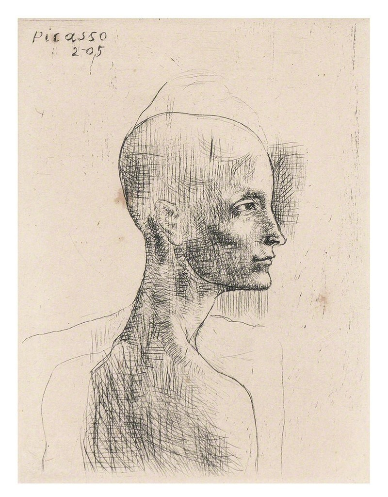 Buste D'Homme (Bloch 4) by Pablo Picasso