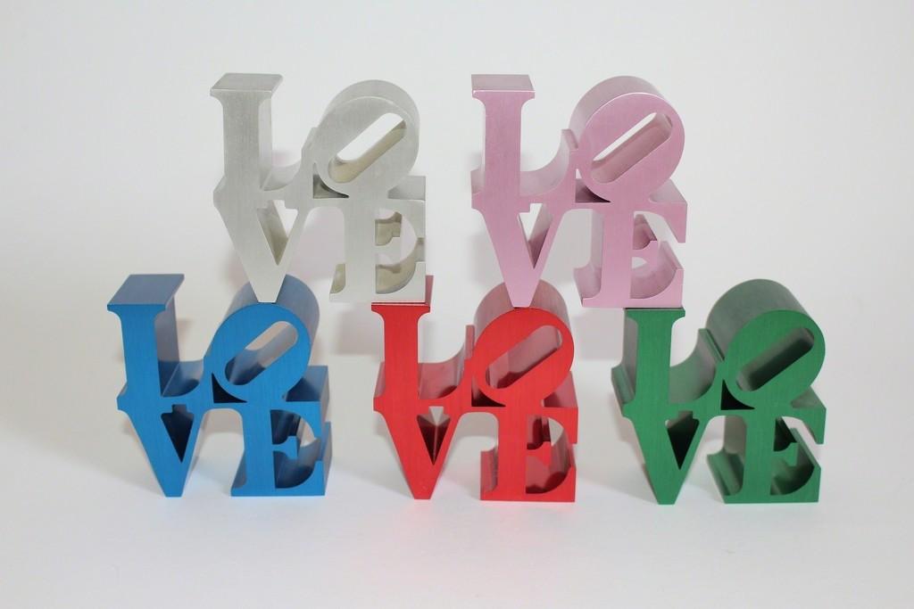 Love IMA Sculptures by Robert Indiana