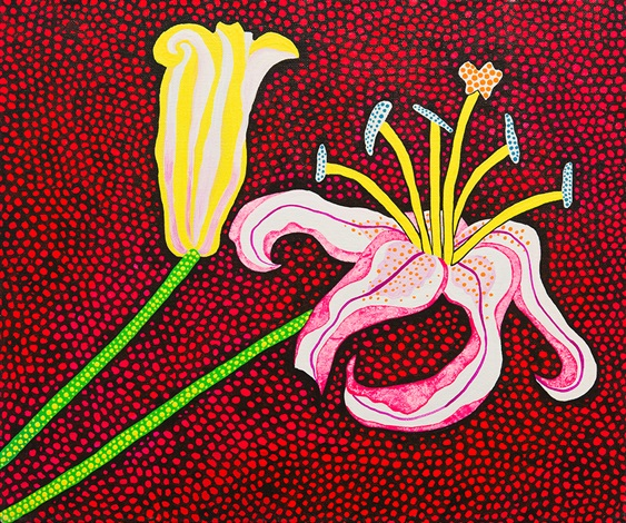 Ready to Blossom in the Morning By Yayoi Kusama