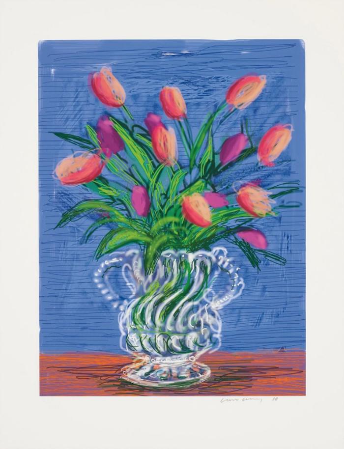 David Hockney Untitled iPad Drawing 346