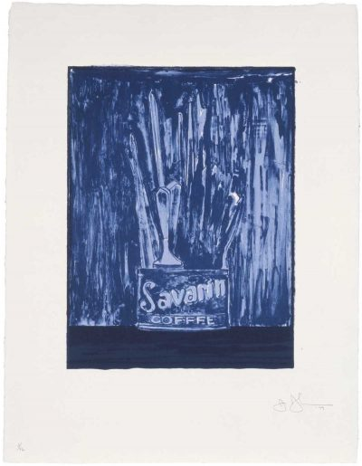Savarin (Blue) By Jasper Johns
