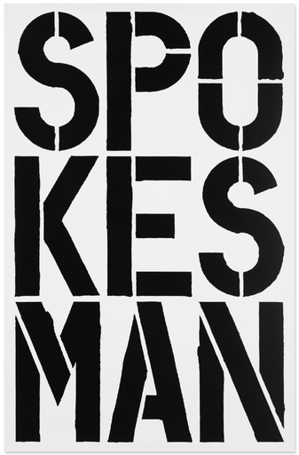 spokesman by Christopher Wool