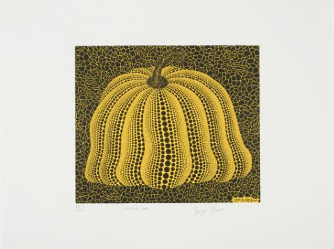 A Pumpkin 2000 (Yellow) by Yayoi Kusama