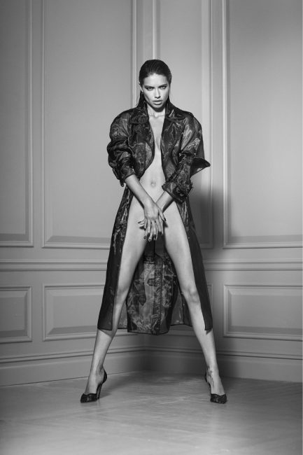 Adriana in Trench Coat by Russell James