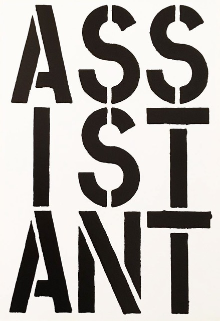 Assistant by Christopher Wool