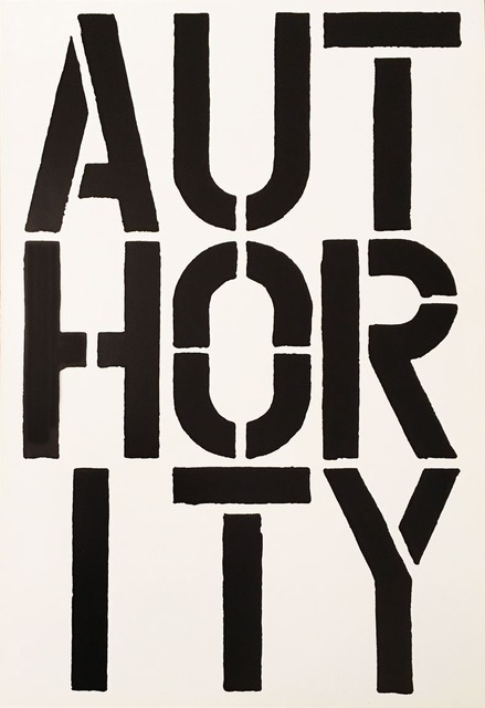 Authority by Christopher Wool