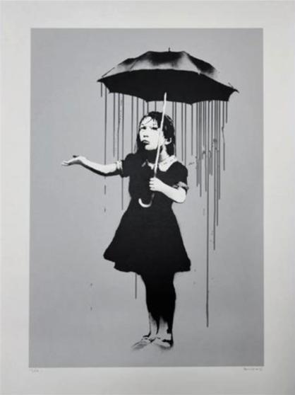 Banksy NOLA Grey Rain