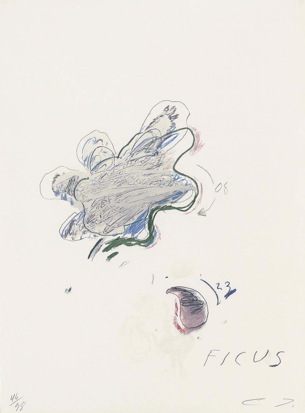 Natural History Part II number VII by Cy Twombly