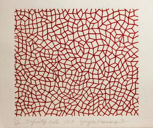 Infinity Nets (Orange) by Yayoi Kusama