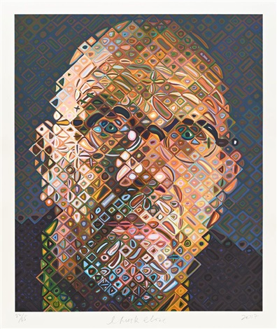 Self Portrait (2017) by Chuck Close