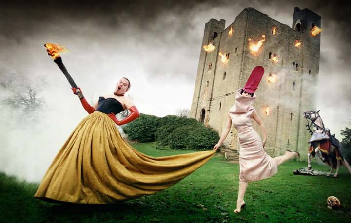 Alexander McQueen and Isabelle Blow Burning Down The House by David LaChapelle