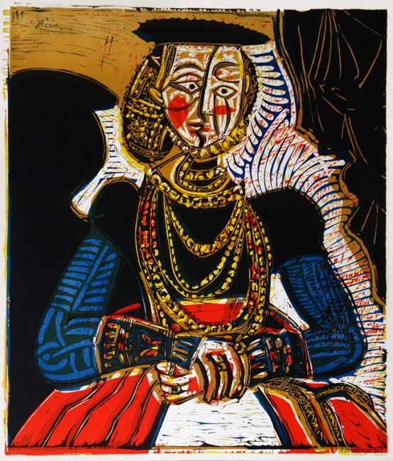Buste de Femme aprés Cranach b y Pablo Picasso