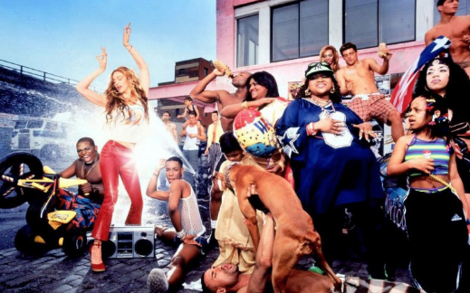 Madonna Staged Street Scene With Some Real People by David LaChapelle