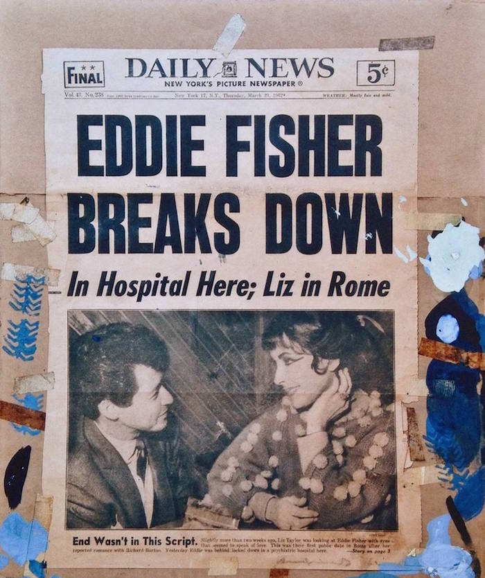Eddie Fisher Breaks Down Daily News by Andy Warhol