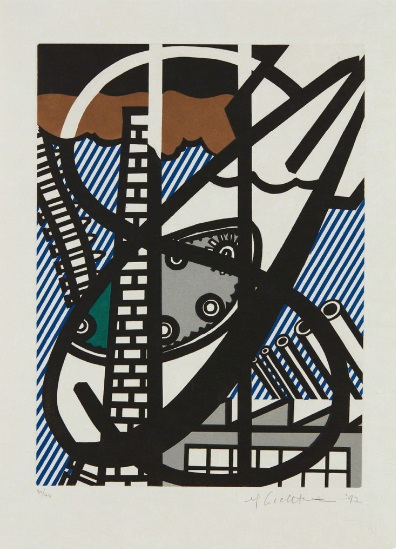 A Window Open on Chicago, from The New Fall Of America, by Roy Lichtenstein
