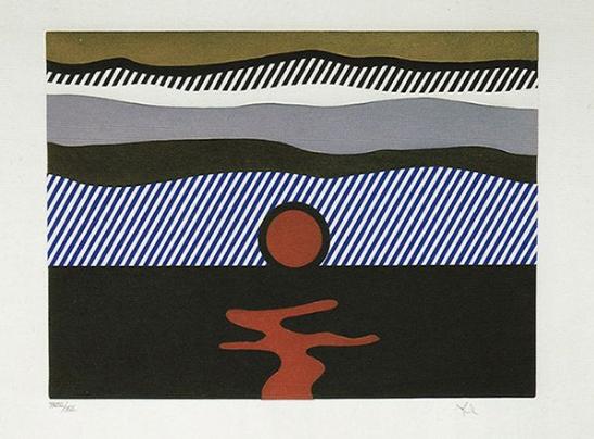 De Nouveau Au Dessus De Denver, from The Fall Of America by Roy Lichtenstein