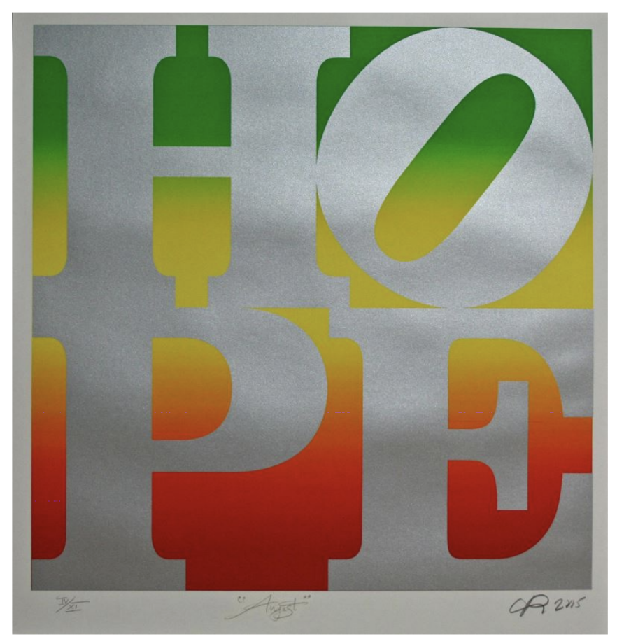 Hope (August) By Robert Indiana