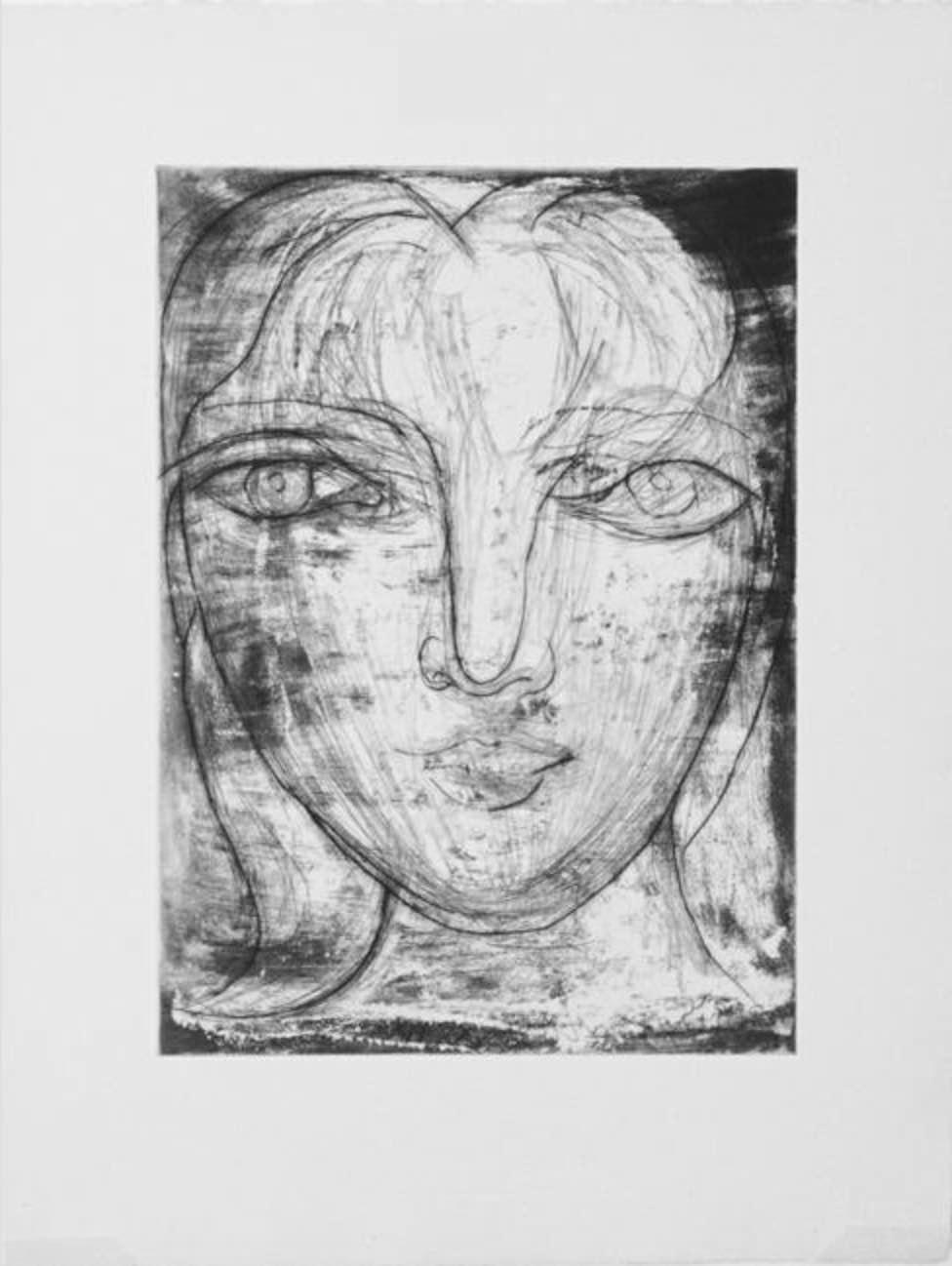 Portrait de Marie-Thérèse de Face by Picasso