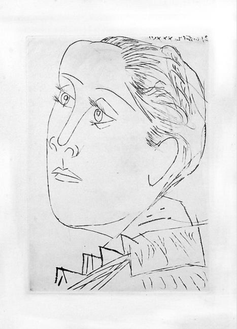 Portrait de Dora Maar au Chignon by Picasso