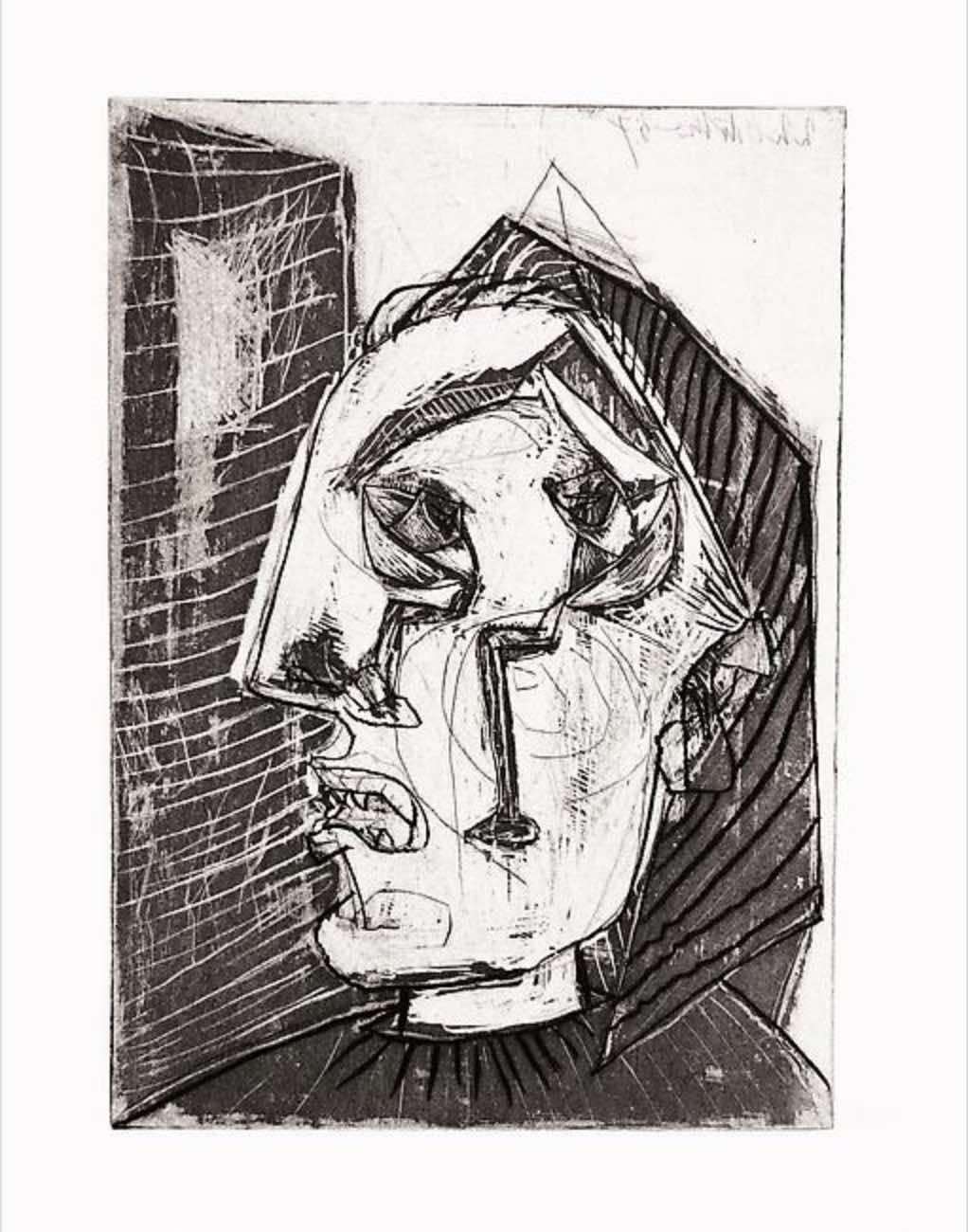 Femme qui Pleure devant un Mur by Picasso