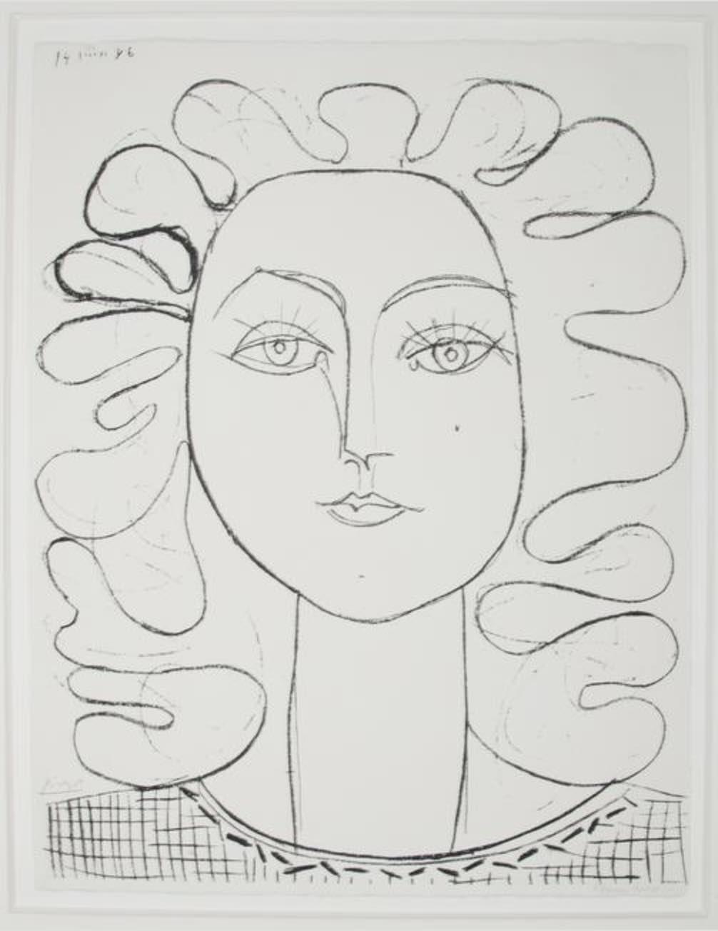 Françoise aux Cheveux ondulés by Picasso