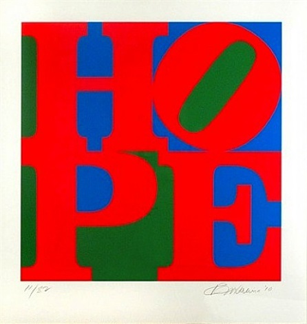 Classic Hope by Robert Indiana