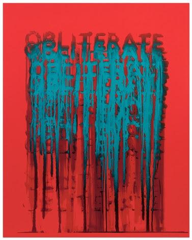 Obliterate by Mel Bochner