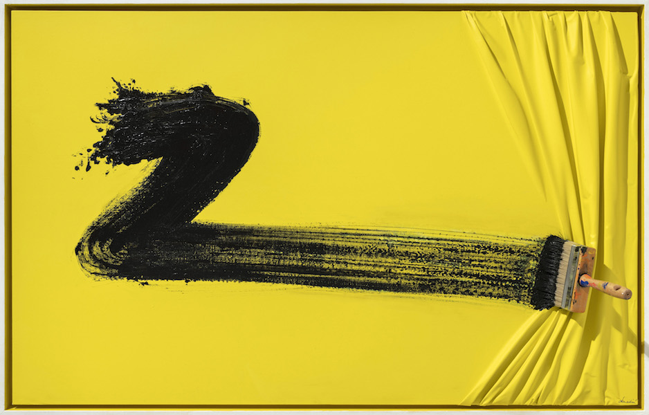 Black Brush on Yellow by Jean Paul Donadini