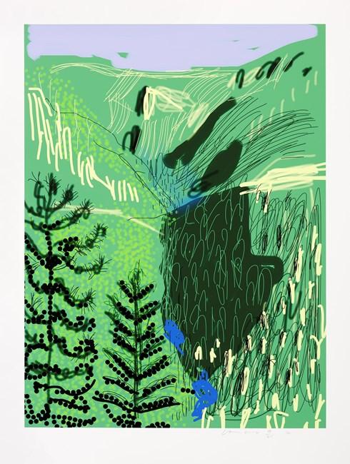 Untitled No. 21, Yosemite Suite, 2010 by David Hockney
