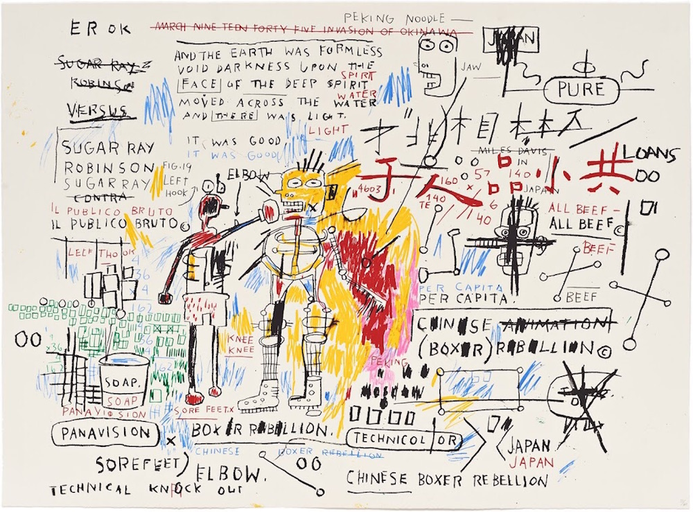 Jean Michel Basquiat Boxer Rebellion