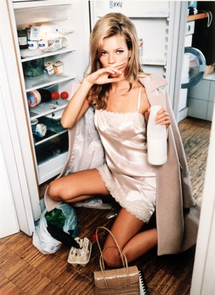 Kate Moss (milk) by Ellen von Unwerth