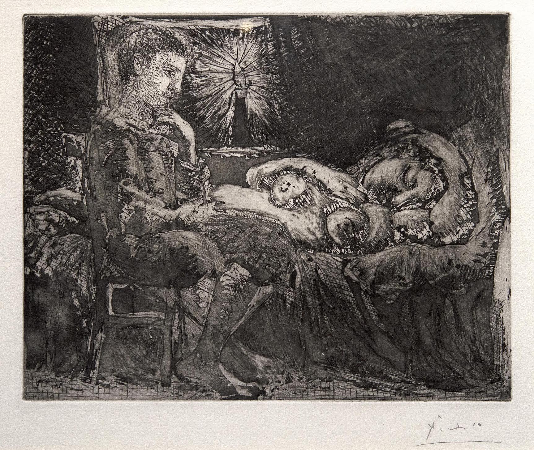 Garçon et Dormeuse à la Chandelle by Picasso